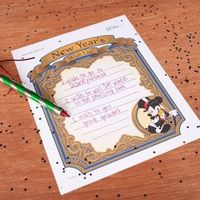 Mickey's New Year Wish List Printable - #newyears #printable #disney