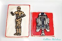 Star Wars R2D2 and C3PO cookies!