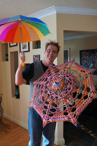 Mikey's Crochet Umbrella Tutorial. Make your own using his instructions. Free Tutorial